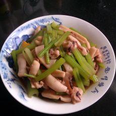 鱿鱼烧芹菜