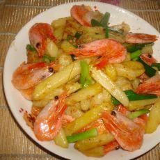 土豆炒北极虾