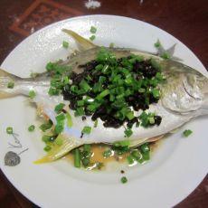 豆鼓蒸白鲳鱼