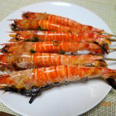 盐烤凤尾虾的做法