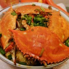 鸡蛋豆腐蒸梭子蟹