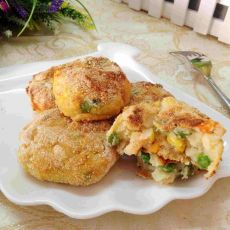 虾仁玉米土豆饼的做法