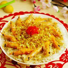 金针菇粉丝清蒸虾的做法