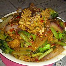 香锅鱿鱼卷