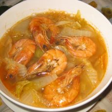 白菜炖大虾
