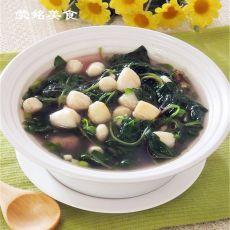 苋菜鲜贝汤的做法
