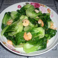 鲜虾仁炒油菜的做法