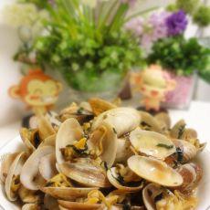 紫苏蒜头炒沙甲