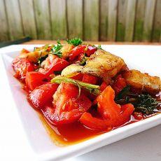 番茄烩龙利鱼片