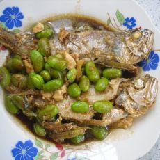毛豆烧黄鱼的做法