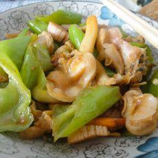 尖椒蛤肉的做法
