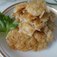 雪虾煎蛋饼