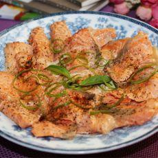 清蒸三文鱼片