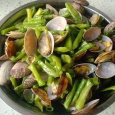 豆角炖蛤蜊