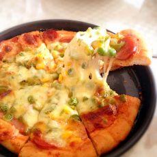 薄脆至尊海鲜披萨