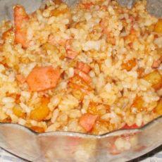 土豆香肠炒米饭