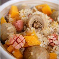 锅仔牛肉丸焖饭