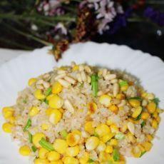 松仁玉米炒饭的做法