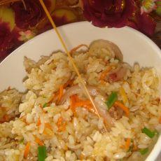 胡萝卜洋葱炒饭