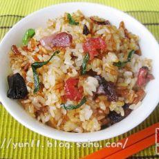 蒸腊味糯米饭