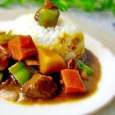 黄金咖喱牛肉饭