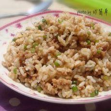 蒜苔肉酱炒饭