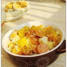 蒜香南瓜焖饭