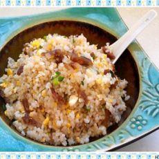 苏式腊肠蛋炒饭的做法