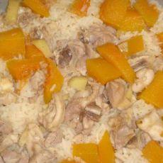 南瓜鸡肉焖饭