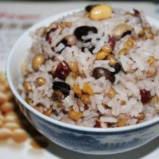 五豆杂粮饭的做法