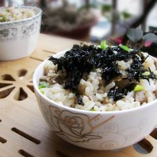 海苔鸡肝饭的做法
