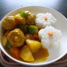 咖喱肉丸花饭