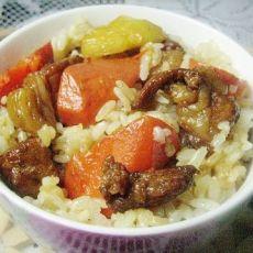 酱肉胡萝卜土豆饭的做法