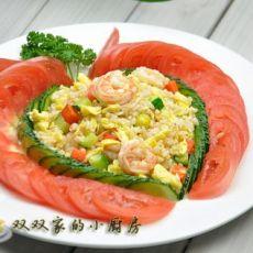 虾仁白果蛋炒饭