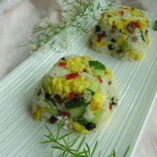 黄瓜鸡蛋炒饭的做法