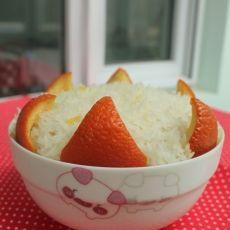 鲜橙蒸米饭的做法