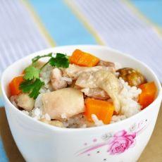 栗子鸡肉米饭