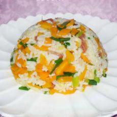胡萝卜腊味炒饭
