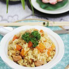 咖喱鸡肉胡萝卜饭的做法