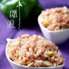 红红腐乳炒饭的做法
