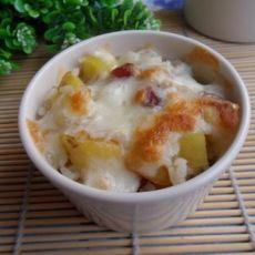 土豆腊肠焗饭的做法