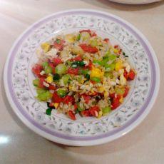 蒜香时蔬蛋菜饭的做法