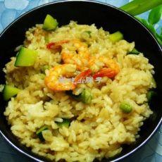 虾仁青豆饭的做法