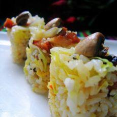 口蘑卷心菜炒饭的做法