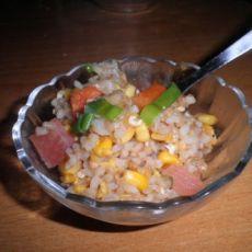 酸萝卜甜玉米炒饭的做法