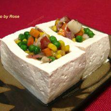 豆腐盒子五彩炒饭