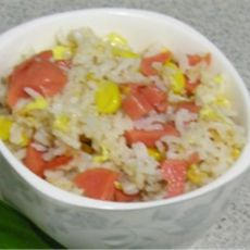 玉米鸡蛋火腿饭