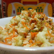 胡萝卜大葱炒米饭