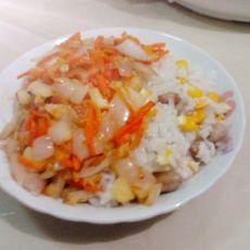 洋葱目鱼拌糯米饭