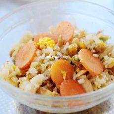 黄豆胡萝卜鸡蛋炒饭的做法